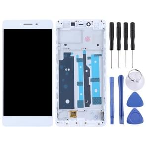 TFT Materials LCD Screen and Digitizer Full Assembly with Frame for OPPO R7s(White)