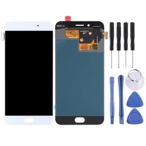 LCD Screen and Digitizer Full Assembly for OPPO R9s(White)