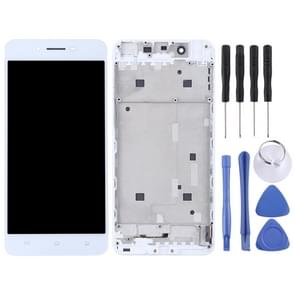 TFT Materials LCD Screen and Digitizer Full Assembly with Frame for Vivo X6(White)