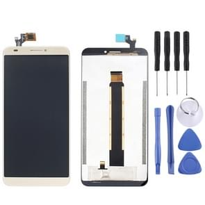LCD Screen and Digitizer Full Assembly for Blackview S6(Gold)