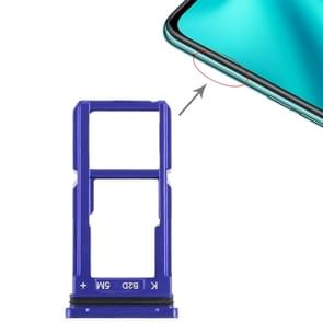 SIM Card Tray + SIM Card Tray / Micro SD Card Tray for OPPO R15(Blue)