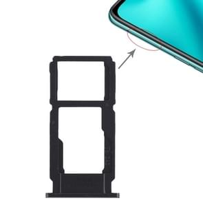 SIM Card Tray + SIM Card Tray / Micro SD Card Tray for OPPO R11 Plus(Black)