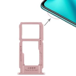 SIM Card Tray + SIM Card Tray / Micro SD Card Tray for OPPO R11 Plus(Rose Gold)
