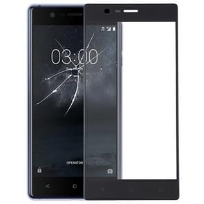 De Lens van het buitenste glas van de voorste scherm voor Nokia 3(Black)