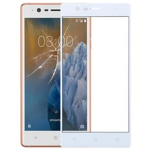 Front Screen Outer Glass Lens for Nokia 3(White)