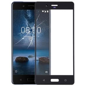 Front Screen Outer Glass Lens for Nokia 8 / N8 TA-1012 TA-1004 TA-1052(Black)