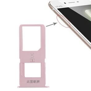 2 x SIM Card Tray for Vivo X6S Plus(Rose Gold)