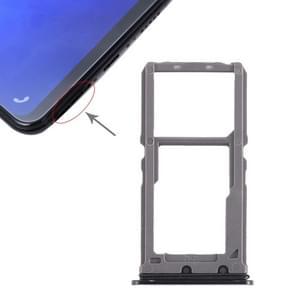 SIM Card Tray + SIM Card Tray / Micro SD Card Tray for Vivo X21 (Black)