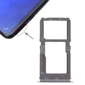 SIM Card Tray + SIM Card Tray / Micro SD Card Tray for Vivo X21 (Grey)