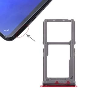 SIM Card Tray + SIM Card Tray / Micro SD Card Tray for Vivo X21 (Red)