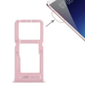 SIM Card Tray + SIM Card Tray / Micro SD Card Tray for Vivo X20 Plus (Rose Gold)