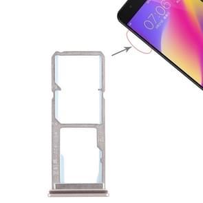 2 x SIM Card Tray + Micro SD Card Tray for Vivo Y69(Gold)