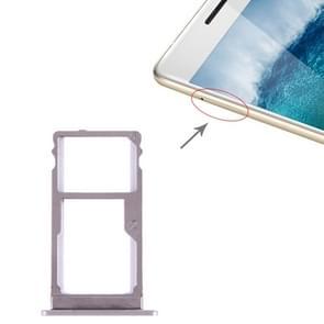 SIM Card Tray + SIM Card Tray for Lenovo K5 Note(Silver)