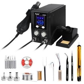 Kaisi 8586+ SMD Rework Soldering Station Hot Air Gun Soldering Station Repair Welding Set PCB Desoldering Tool, EU Plug