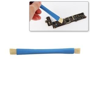 Kaisi BGA Repairing Hard Brush Double-head Brush Anti-static Pig Hair Brush(Blue)