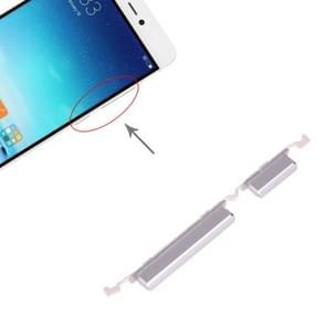 Aan/uit-knop en volume knop voor Xiaomi mi 5s (zilver)