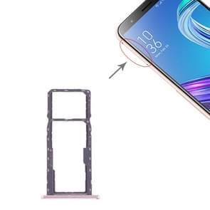 SIM Card Tray + SIM Card Tray + Micro SD Card Tray for Asus ZenFone MAX M1 ZB555KL (Rose Gold)