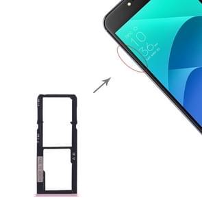 SIM Card Tray + SIM Card Tray + Micro SD Card Tray for Asus Zenfone 4 Selfie ZD553KL / ZB553KL (Rose Gold)