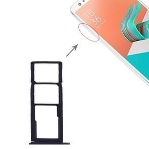 SIM Card Tray + SIM Card Tray + Micro SD Card Tray for Asus Zenfone 5Q ZC600KL (Zenfone 5 Lite ZC600KL)(Dark Blue)
