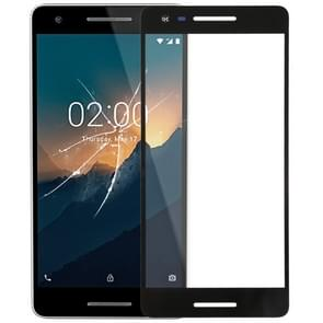 Front Screen Outer Glass Lens for Nokia 2.1(Black)