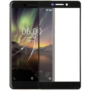Front Screen Outer Glass Lens for Nokia 6.1(Black)
