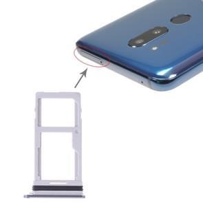 SIM Card Tray + SIM Card Tray / Micro SD Card Tray for LG G7 ThinQ G710 G710EM G710PM G710VMP G710ULM (Silver)