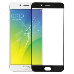 Front Screen Outer Glass Lens for OPPO R9s Plus(Black)