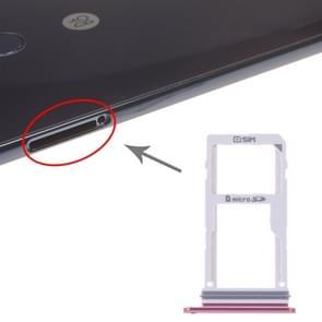 SIM Card Tray + SIM Card Tray / Micro SD Card Tray for LG V30 VS996 LS998U H933 LS998U (Red)