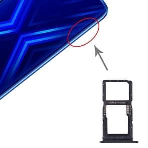 SIM Card Tray + SIM Card Tray / Micro SD Card Tray for Huawei Honor 9X(Black)