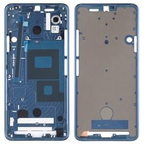 Front Housing LCD Frame Bezel Plate for LG G7 ThinQ / G710 (Blue)