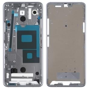 Front Housing LCD Frame Bezel Plate for LG G7 ThinQ / G710 (Silver)