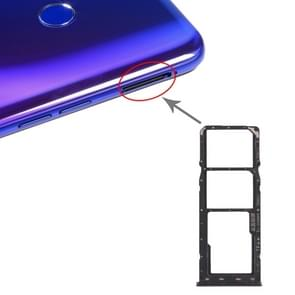 SIM Card Tray + SIM Card Tray + Micro SD Card Tray for OPPO Realme 3 Pro(Black)