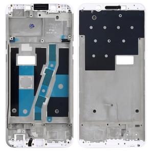 Front Housing LCD Frame Bezel Plate for OPPO A1(White)