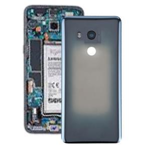 Batterij achtercover met camera lens voor HTC U11 + (transparant zwart)