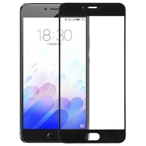 For Meizu Meilan X Front Screen Outer Glass Lens(Black)