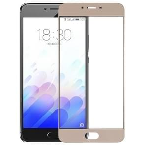 For Meizu Meilan X Front Screen Outer Glass Lens(Gold)
