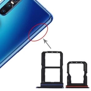 SIM Card Tray + SIM Card Tray + Micro SD Card Tray for Vivo S1 Pro (Blue)