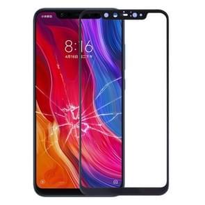 Front screen buitenste glazen lens voor Xiaomi Mi 8 Explorer (zwart)