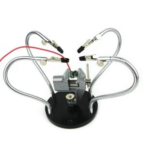 Universal Metal Base Soldering Station Fixture with Four Metal Arms