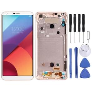 LCD Screen and Digitizer Full Assembly with Frame for LG G6 / H870 / H870DS / H872 / LS993 / VS998 / US997(Gold)