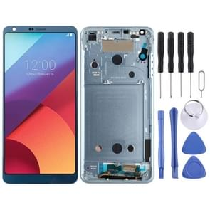 LCD Screen and Digitizer Full Assembly with Frame for LG G6 / H870 / H870DS / H872 / LS993 / VS998 / US997(Blue)