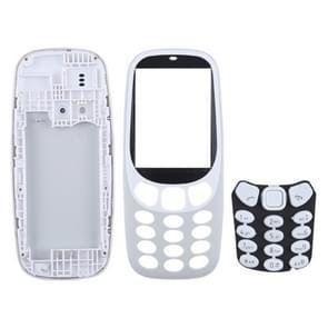 Plenaire vergadering huisvesting Cover met toetsenbord voor Nokia 3310(Grey)