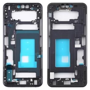 Front Housing LCD Frame Bezel Plate for LG G8 ThinQ (Black)