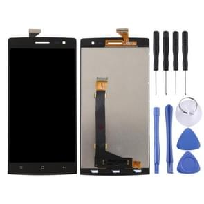 LCD Screen and Digitizer Full Assembly (Six lines) for OPPO Find 7 / X9077(Black)