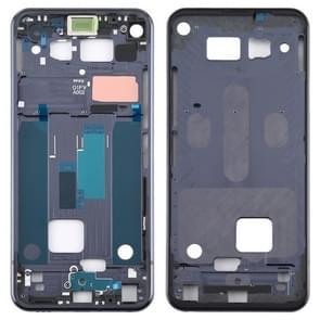 Front Housing LCD Frame Bezel Plate for LG Q70 (Black)