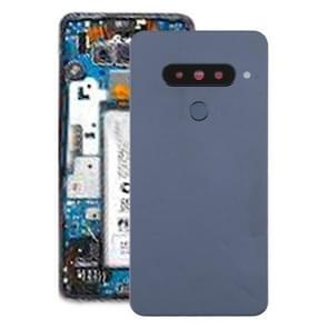 Battery Back Cover with Camera Lens & Fingerprint Sensor for LG G8s ThinQ(Silver)