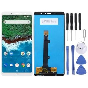 LCD Screen and Digitizer Full Assembly for BQ Aquaris X2 / X2 Pro(White)