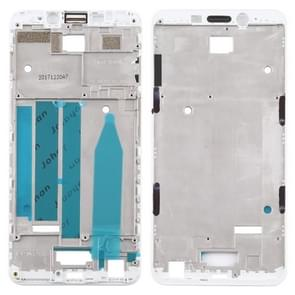 Front behuizing LCD frame bezel Plate voor Meizu M6s M712H M712Q (wit)