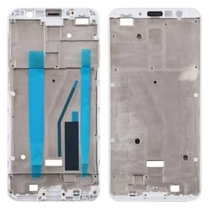 Front behuizing LCD frame bezel Plate voor Meizu M6T M811Q (wit)