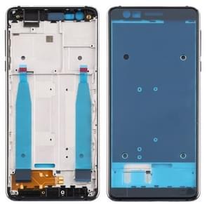 Voorzijde behuizing LCD frame bezel plaat voor Nokia 3 1 TA-1049 TA-1057 TA-1063 TA-1070 (zwart)
